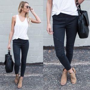 MINDY▪️ black moto pants jeggings skinny